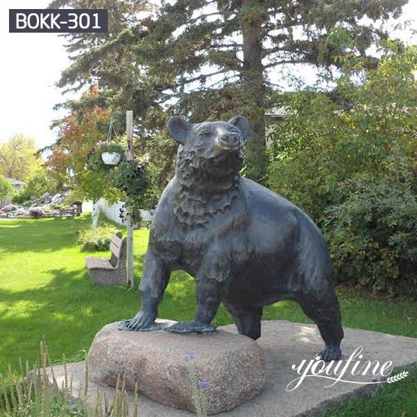 Outdoor Garden Bronze Life Size Bear Statue Supplier BOKK-301
