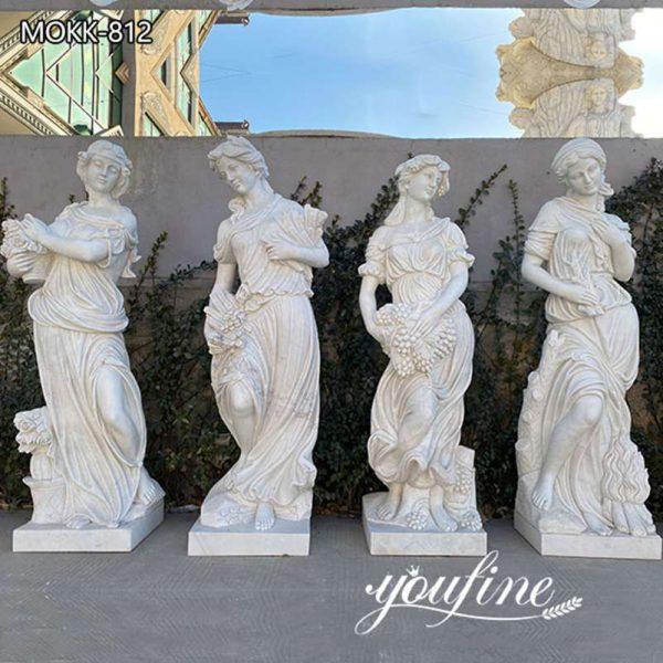 Outdoor Garden Four Seasons Goddesses Marble Statues for Sale MOKK-812