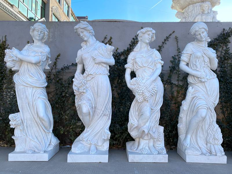 Outdoor Garden Four Seasons Goddesses Marble Statues for Sale
