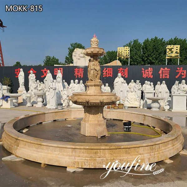 Outdoor Tiered Marble Garden Fountain for Sale