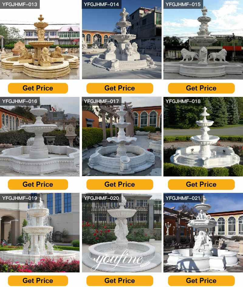 Tiered Marble Garden Fountain for Sale