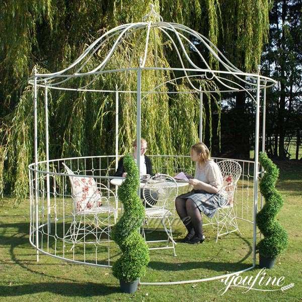 White Metal Iron gazebo Wedding Decoration for Sale IOK-99