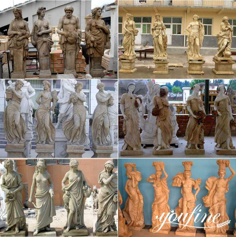 four season garden statues