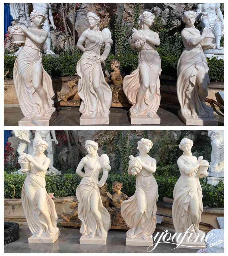 four seasons garden statue