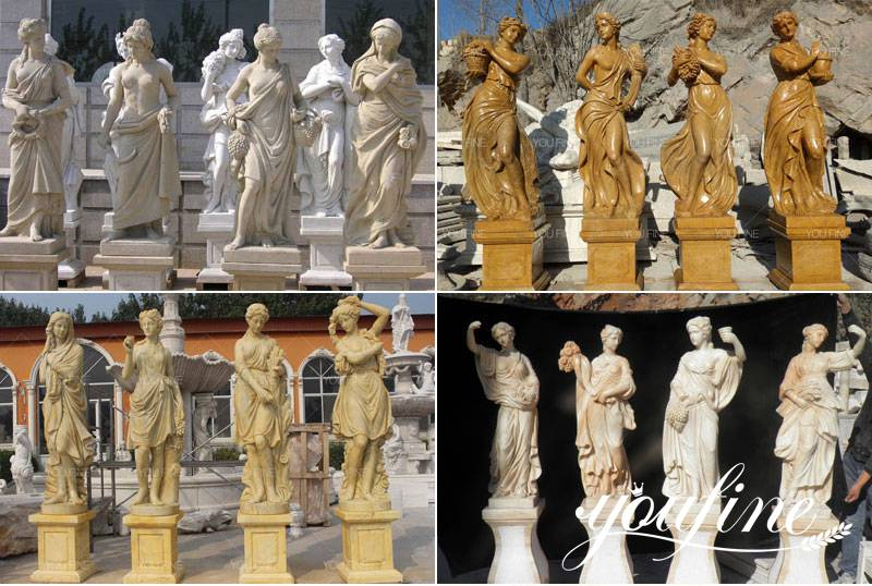 four seasons marble statues for sale