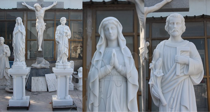 marble statues of mary