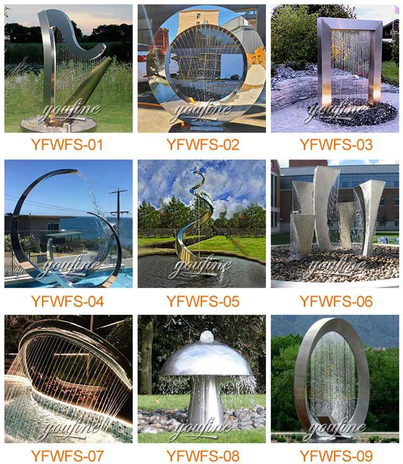 modern water features for sale