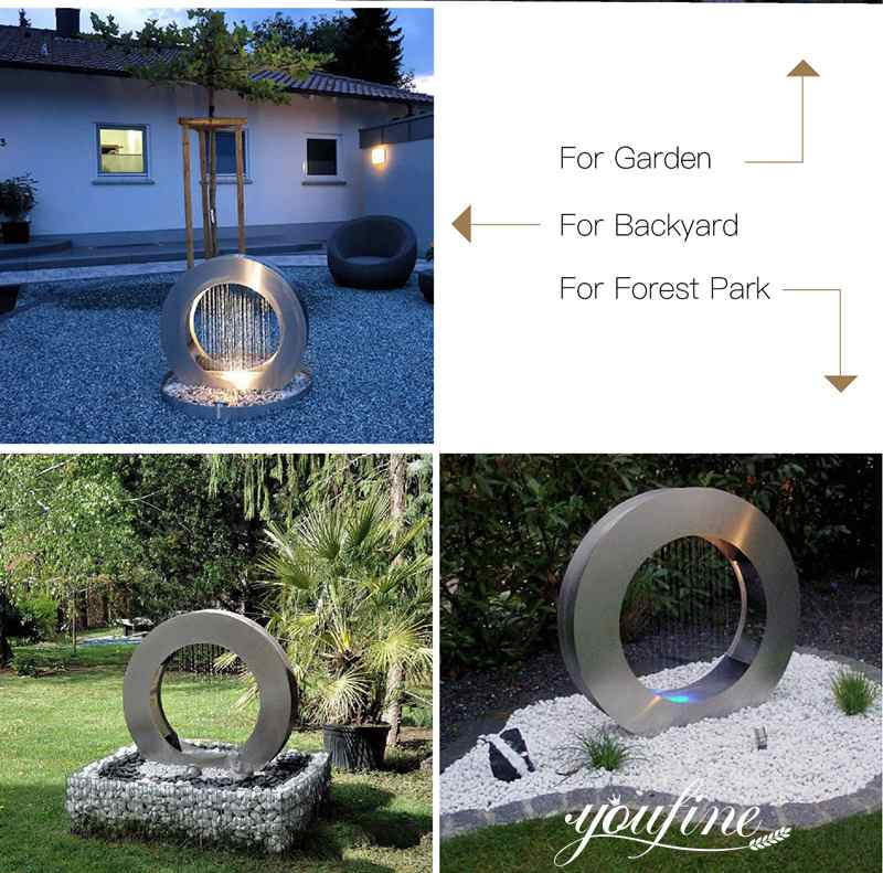 modern water features outdoor