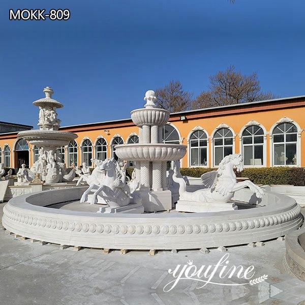 outdoor horse fountain