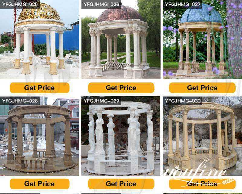 outdoor marble gazebo