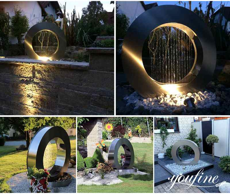outdoor modern water features