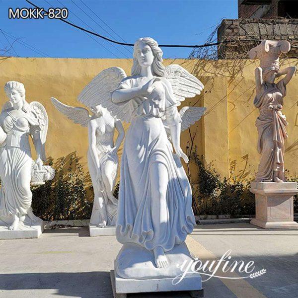 Garden Life Size White Marble Angel Statue for Sale MOKK-820