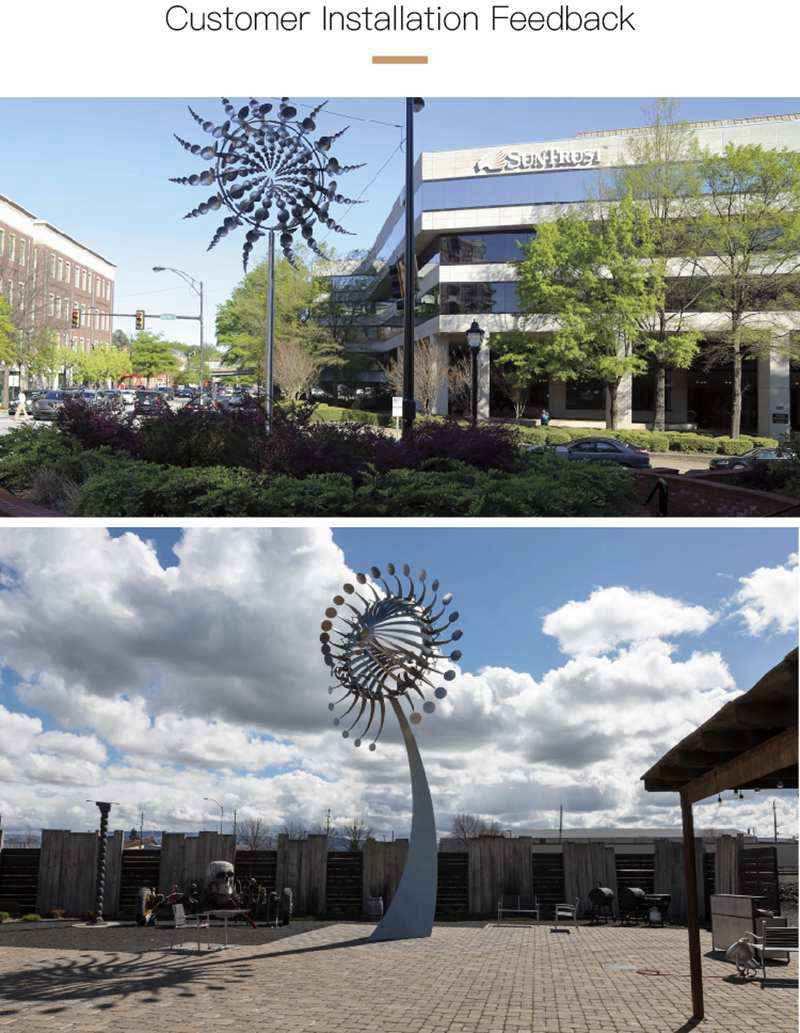 Garden Stainless Steel Wind Sculpture for Sale