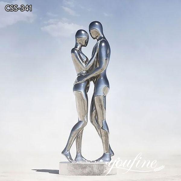 Large Metal Double Figure Sculptures Landscape Decor