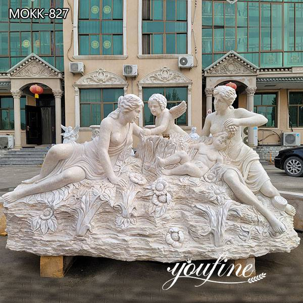 Marble Figure Group Fountain Statue fo