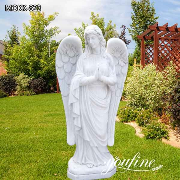 Garden Natural Marble Praying Angel Statue for Sale MOKK-823
