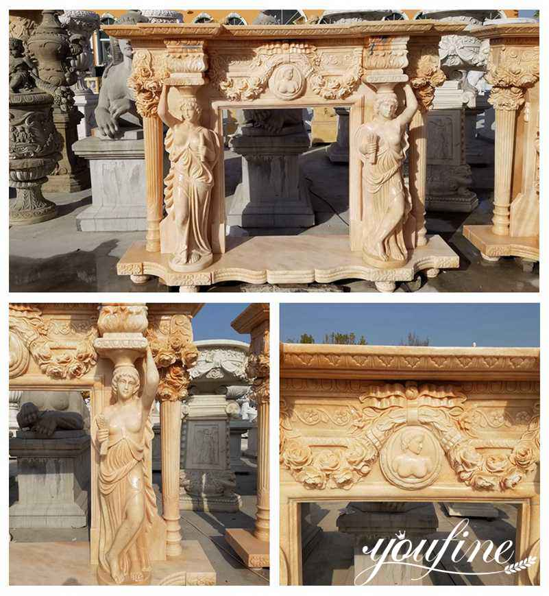 Marble Statuary Fireplace