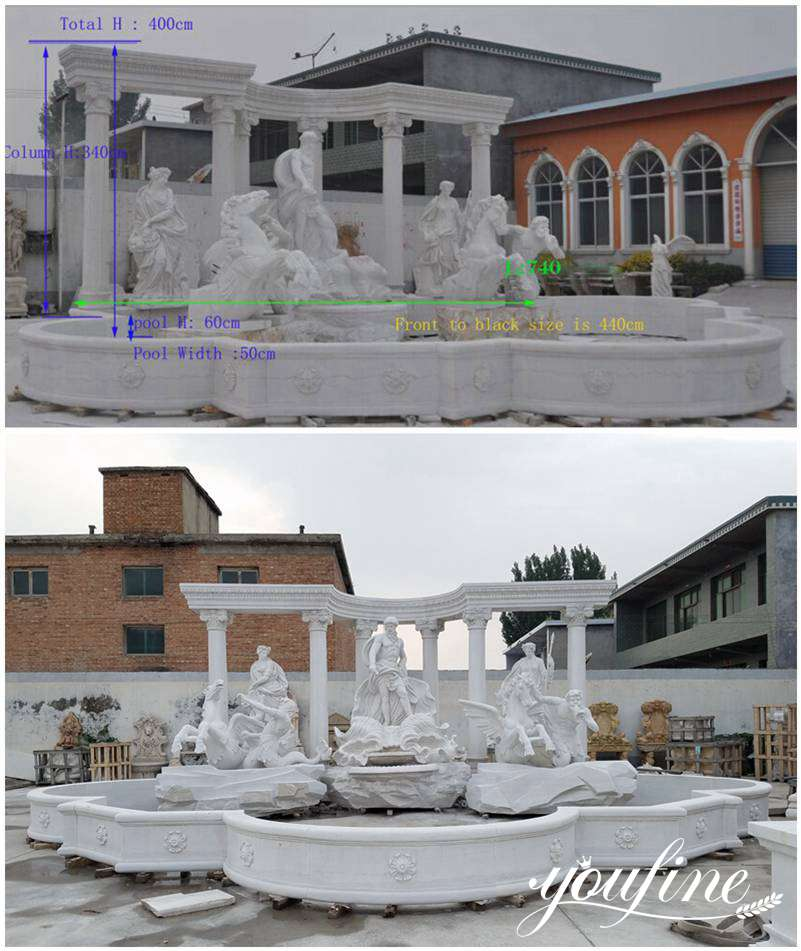 Marble Trevi Fountain