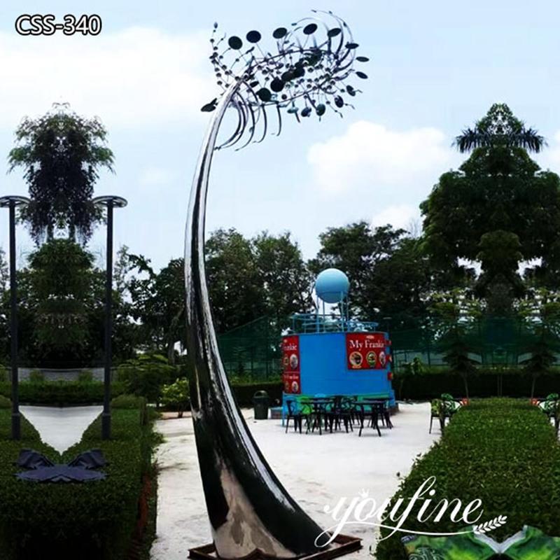 Modern Metal Large Kinetic Wind Sculpture Garden Decor for Sale CSS-340