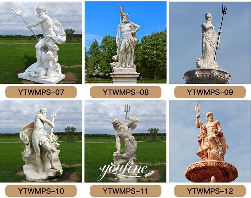 Neptune marble statue