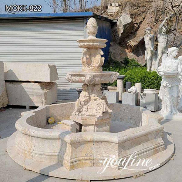 Outdoor Garden Tiered Marble Water Fountain