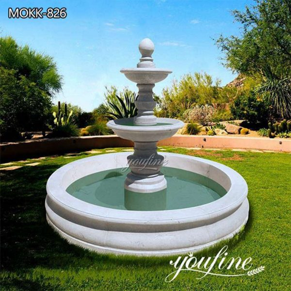 Outdoor Garden Tiered Marble Water Fountain for Sale