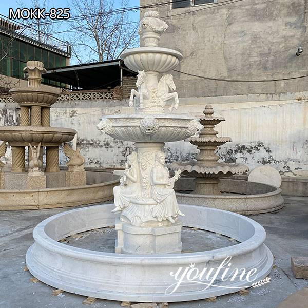 Outdoor Natural Marble Garden Fountain for Sale MOKK-825