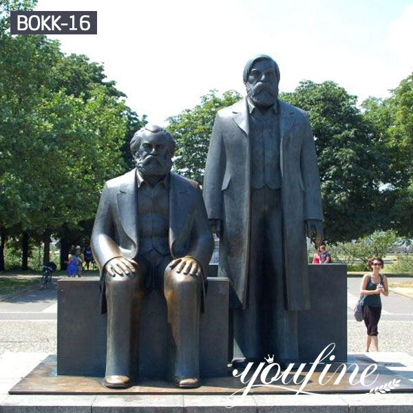 Square Memorial Statue Bronze Marx and Engels for Sale BOKK-16