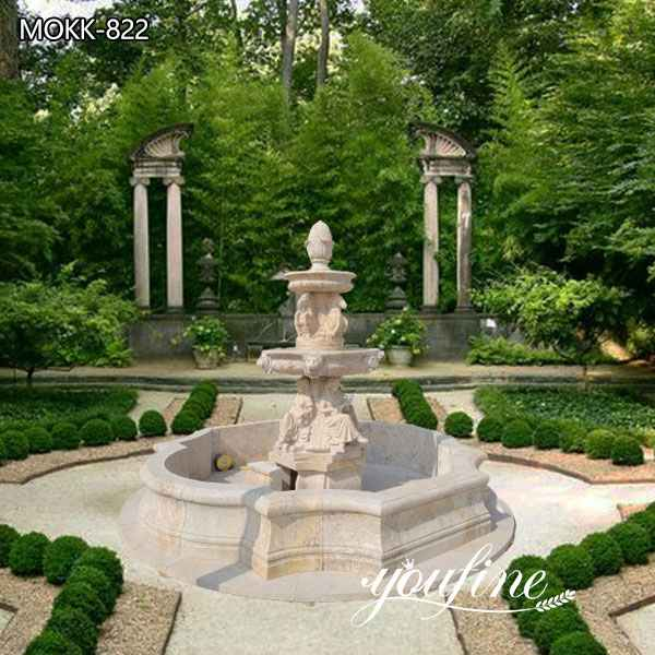 Tiered Marble Water Fountain for Sale