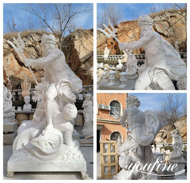 famous Neptune marble statue