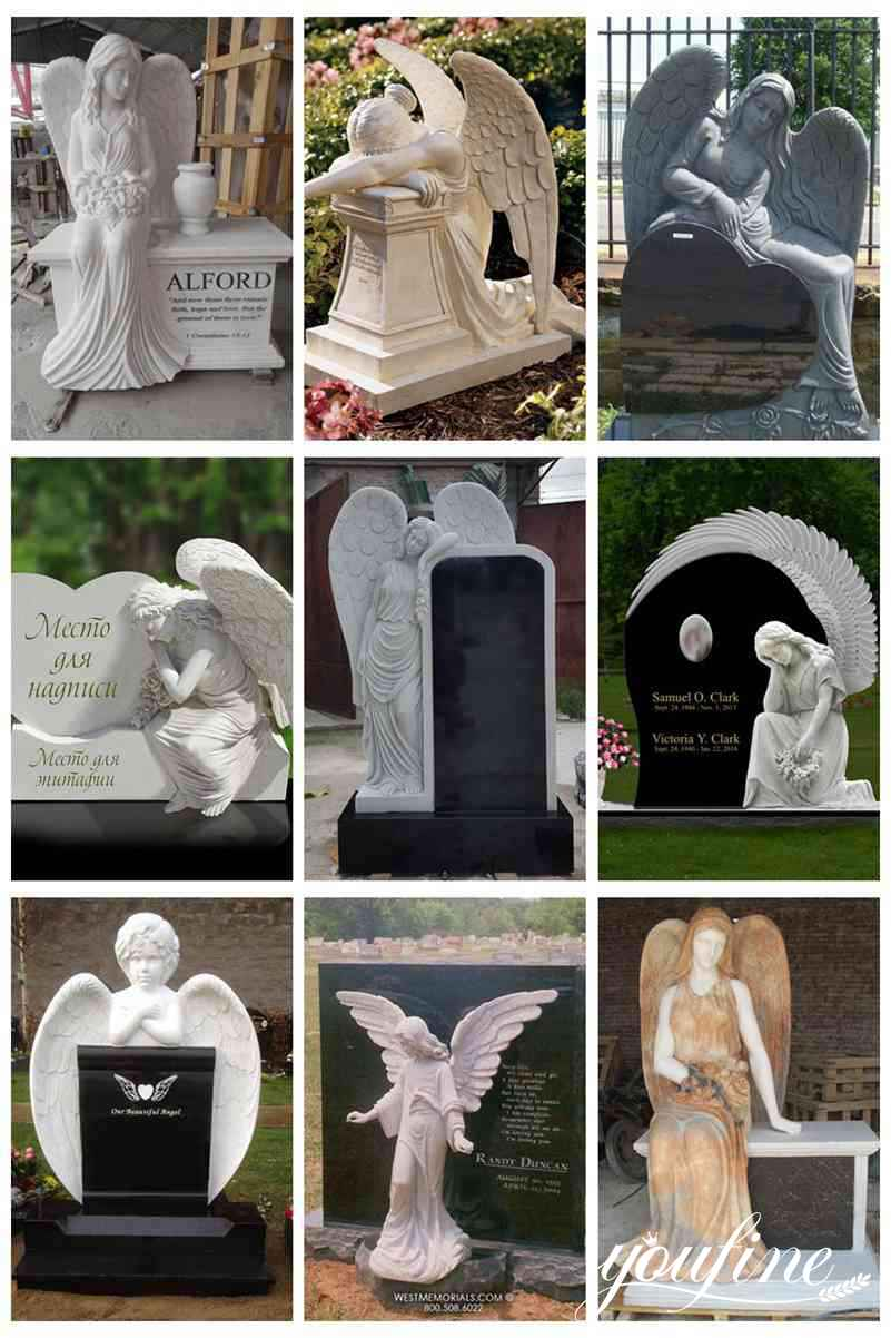 marble angel headstone for sale