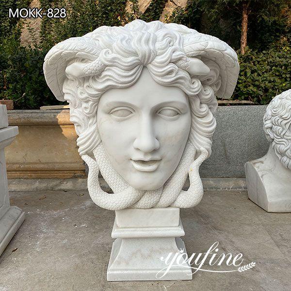 Hand Carved Famous Marble Medusa Head Statue for Sale MOKK-828