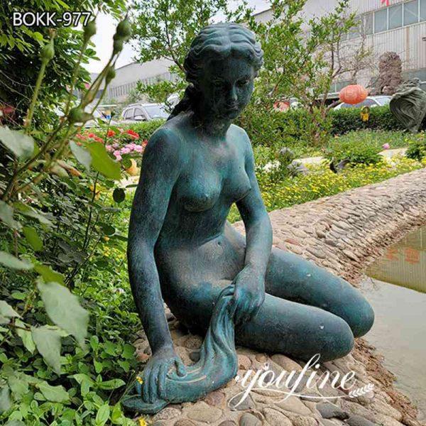 Bronze Life Size Mermaid Statue Fountain Pool Decor