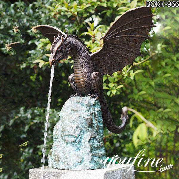 Large Bronze dragon Fountain Garden Decoration for Sale BOKK-966
