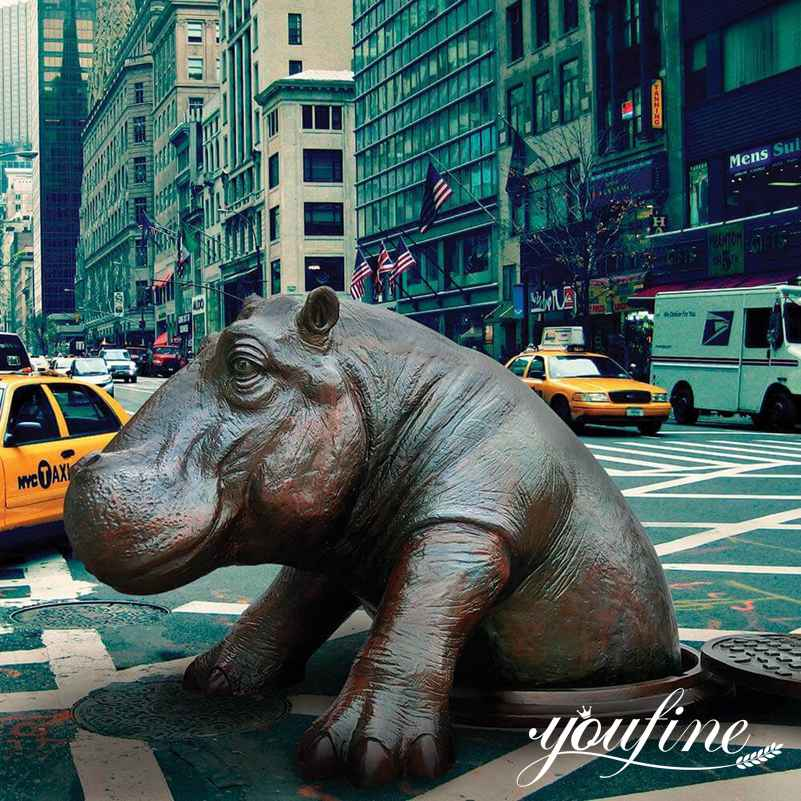 Come Out Hippo Statue for Sale