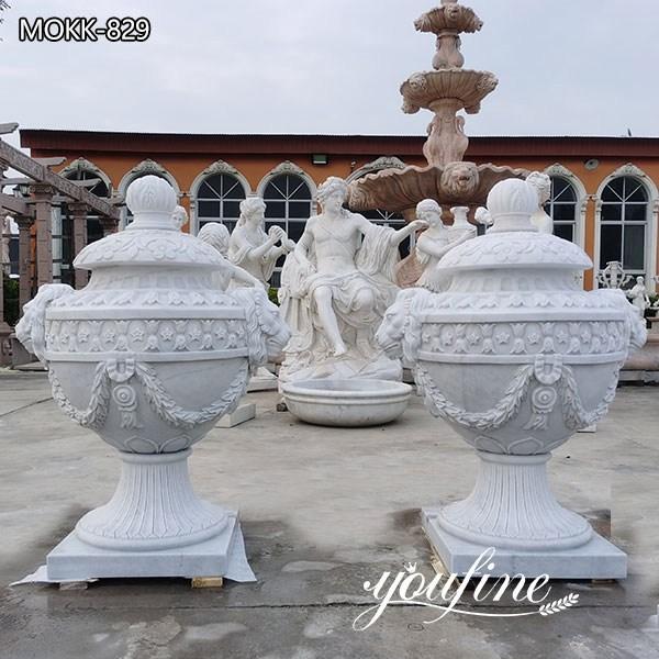 Decorative Garden White MarbleFlowerPot for Sale