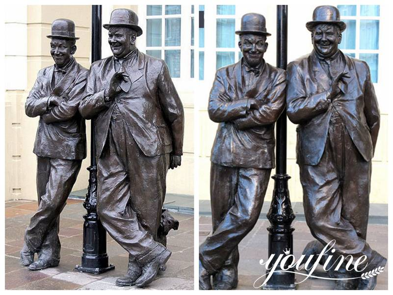 Famou Laurel and Hardy Statue for Sale