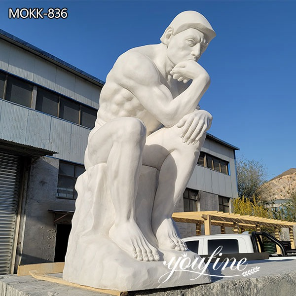 Famous Rodin Sculpture the Thinker Marble Statue for Sale MOKK-836