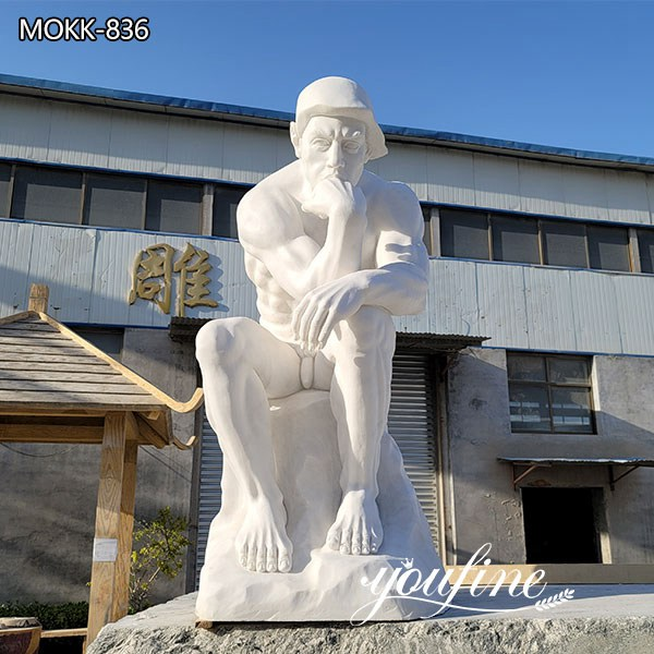 Famous Rodin the Thinker Marble Statue