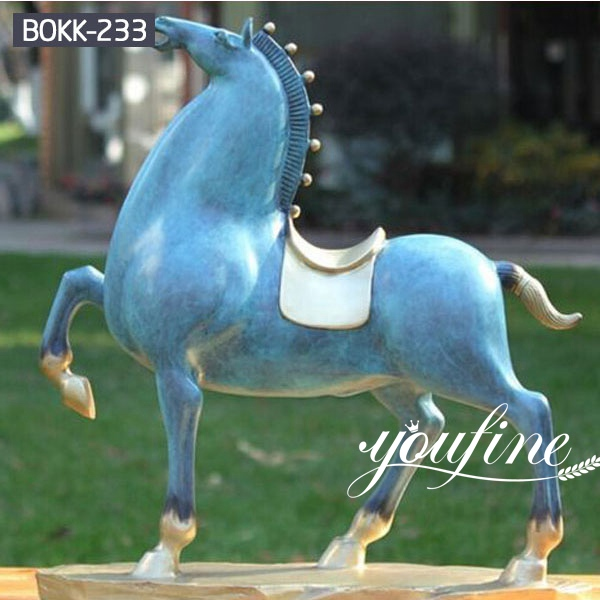 Large Bronze Tang Horse Statue Garden Decor for Sale BOKK-233