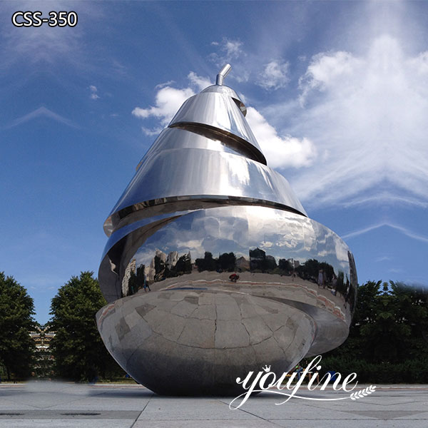 Large Modern Stainless Steel Pear Sculpture for Sale CSS-350