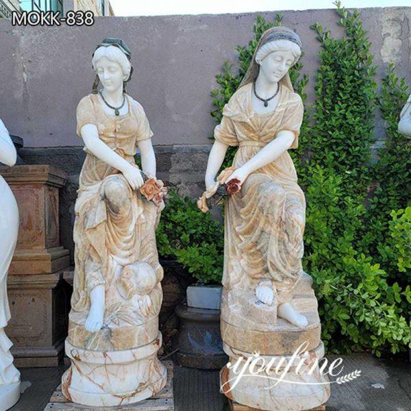 Life Size Beige Marble Woman Garden Statue for Sale MOKK-838