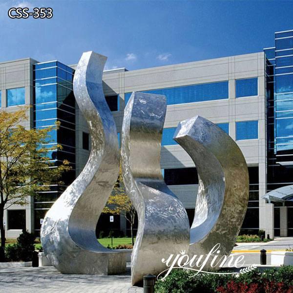 Modern Urban Large Metal Sculpture for Garden for Sale CSS-353