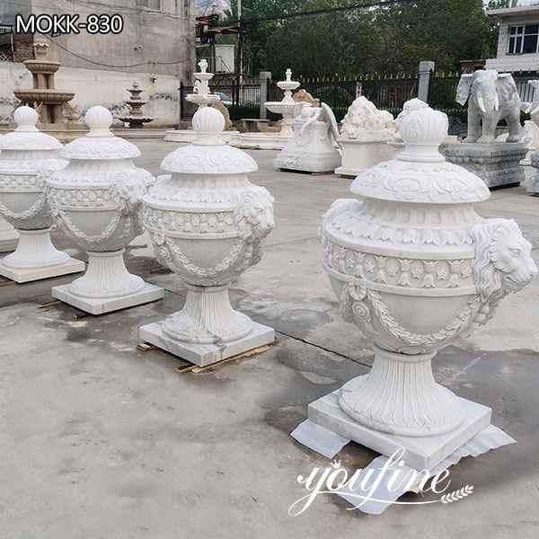 Natural White Marble GardenFlowerpots Suppliers MOKK-830