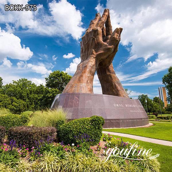 Outdoor Large Praying Hands Bronze Statue