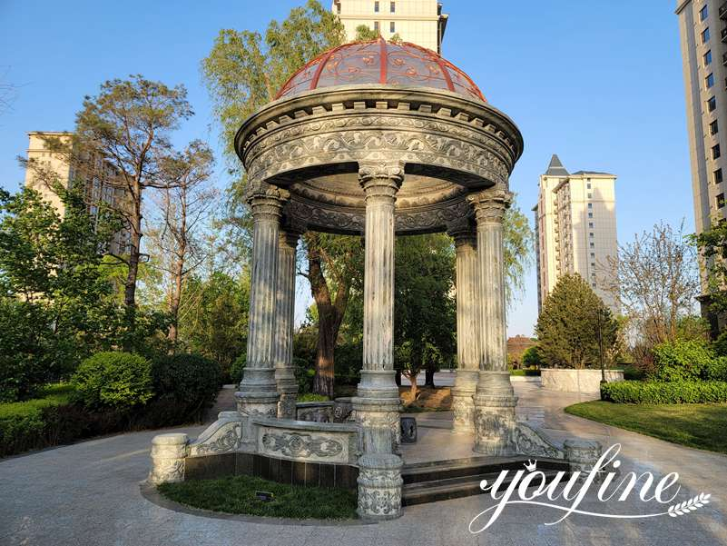 Outdoor Marble Gazebo Residential Decoration for Sale