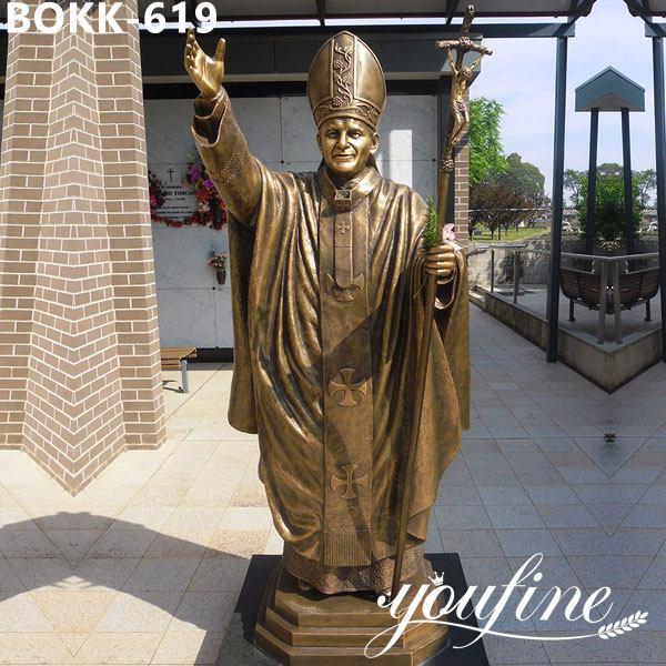 Bronze John Paul II Bronze sculpture Church Decoration for Sale BOKK-619