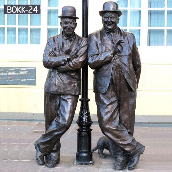 Famous Square Decor Bronze Laurel and Hardy Statue for Sale BOKK-24