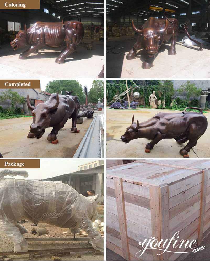 bronze bull statue for sale