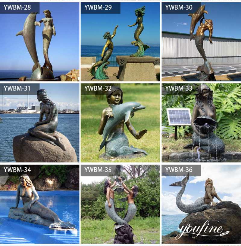 large outdoor mermaid statues